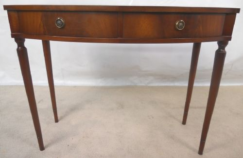 Georgian Style Mahogany Bow Front Side Table